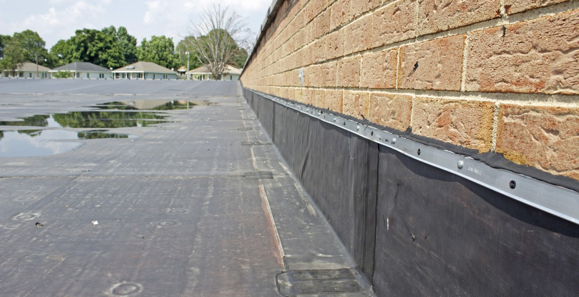 Black EPDM rubber roof | Lottes Roofing