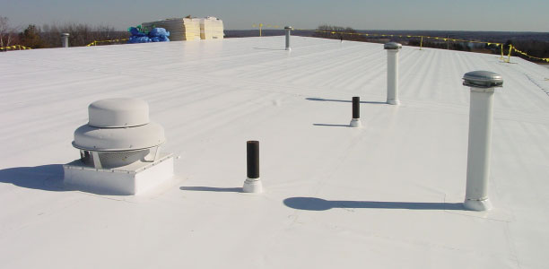 White Epdm And Tpo Rubber Roofing